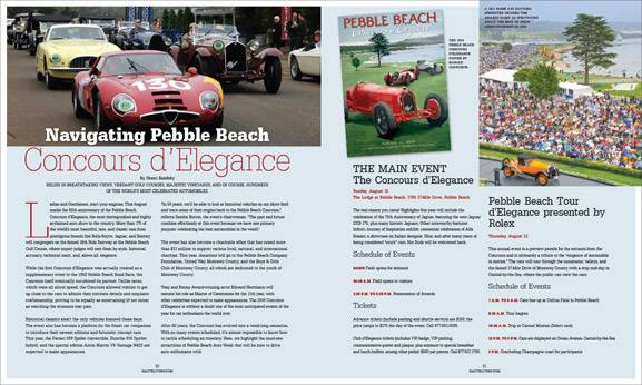 """Navigating The Pebble Beach Concours d'Elegance"" in the New Issue of Haute Living San Francisco"