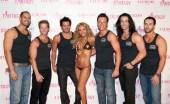 "Lorena Peril and the cast of ""Thunder From Down Under"""