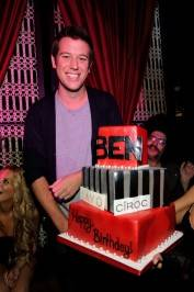 Ben Lyons celebrates his birthday with a special birthday cake at Lavo Nightclub.