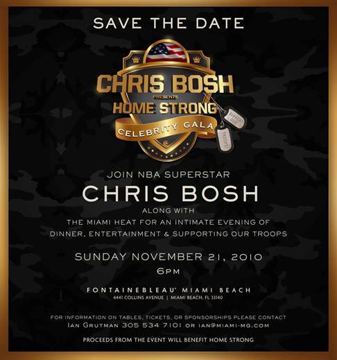 Chris Bosh Supports The Troops With Charity Gala