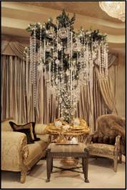 For a jaw-dropping effect, don't be afraid to add tons of crystals and gems for a tree that exudes glamour.