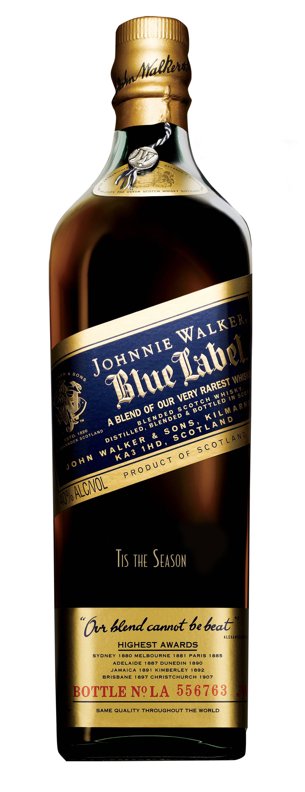 Haute Gift Guide: An Engraved Bottle of Johnnie Walker Blue Label