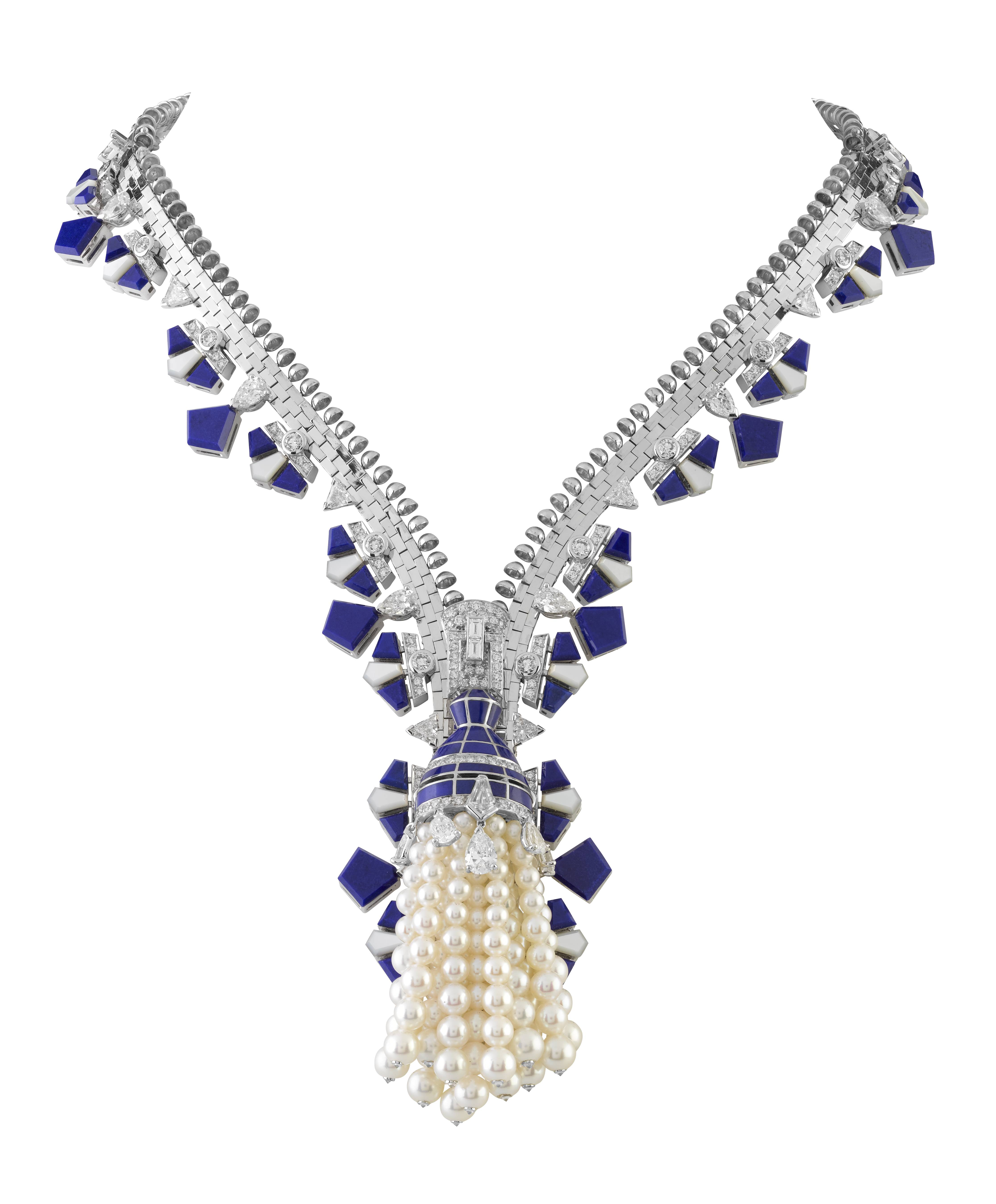 Zip It: Van Cleef & Arpels Births New Additions to the Zip Necklace Family During Haute Couture in Paris