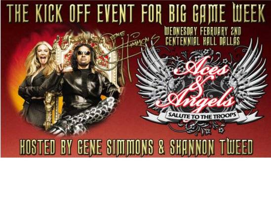 Party With Gene Simmons at the Aces & Angels Event in Fair Park
