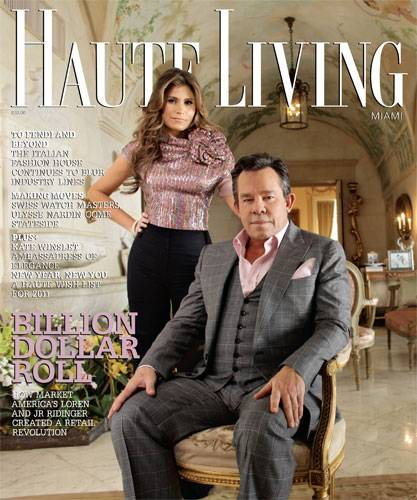 Loren and JR Ridinger Grace the Cover of Haute Living Miami! Now Online!