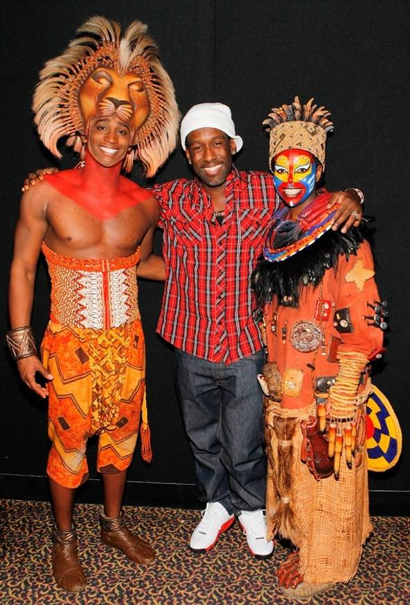 "Haute Event: Shawn Stockman from Boyz II Men Visits ""The Lion King"""