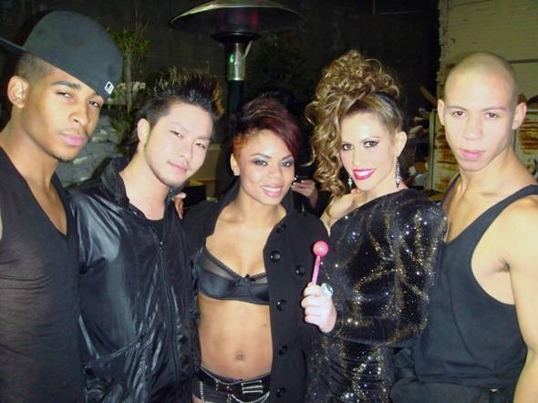 Haute Event: Kimberly Cole Visits Sugar Factory Before Her Performance on New Year's Eve
