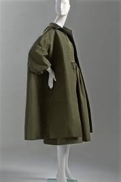 Balenciaga, Dress and coat, fall 1959. Silk faille.  Gift of Vernon Taylor, Jr. and Family.