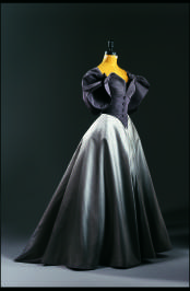 Charles James, American. Ball Gown with Jacket, c.1950, silk taffeta, duchess silk satin and silk taffeta. Gift of Mr. Vernon Taylor, Jr. and Family. Photo by Ken Howie.