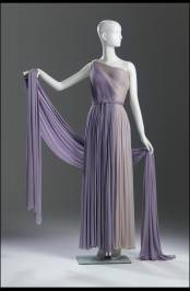 Madame Grès, French. Evening gown and wrap, 1960s, matte silk jersey. Gift of Mr. Vernon Taylor, Jr. and Family. Photo by Ken Howie.