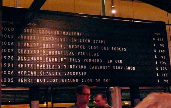 San Francisco's Best Wine List: RN74