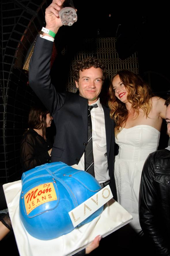 Danny Masterson and Bijou Phillips with cake at LAVO LV