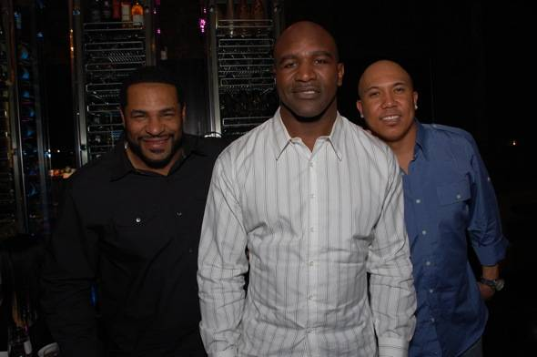 Haute Event: Evander Holyfield, Jerome Bettis, Hines Ward and Joey Porter at Beso