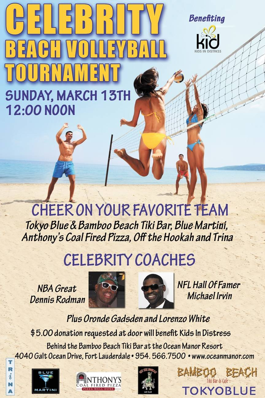 Save the Date: Sports All-Stars Come Together to Support Kids In Distress At This Year's Celebrity Beach Volleyball Tournament