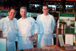 Carlos Guia, Executive Chef Country Club at Wynn, Jack Bruning, assistant chef at the Country Club, and Michael Toye, assistant chef at Stratta, at Taste of the Nation last year.