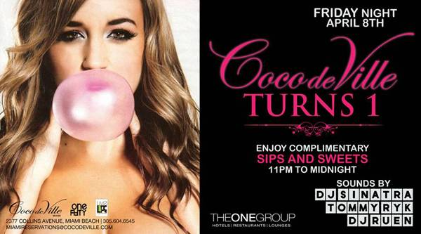 Tonight: Coco de Ville's One Year Anniversary Celebration
