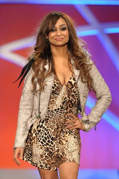 Actress Raven Symone walks the runway at the 18th Annual Race to Erase MS event Co-Chaired by Nancy Davis and Tommy Hilfiger at the Hyatt Regency Century Plaza on April 29, 2011 in Century City, California.