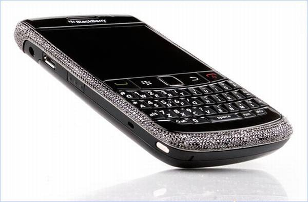 Haute Toys: New Amosu Blinged-Out Black Gold and Diamond Blackberry Curve