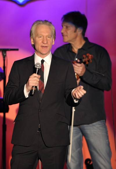 Comedian Bill Maher speaks onstage at the 18th Annual Race to Erase MS event Co-Chaired by Nancy Davis and Tommy Hilfiger at the Hyatt Regency Century Plaza on April 29, 2011 in Century City, California.