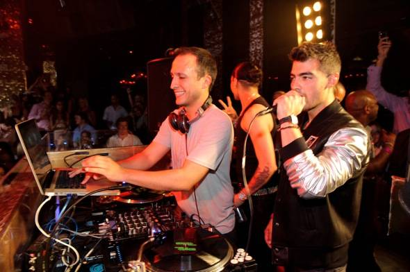 DJ Vice and Joe Jonas at TAO