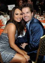 Dancers Cheryl Burke (L) and Louis Van Amstel attend the 18th Annual Race to Erase MS event co-chaired by Nancy Davis and Tommy Hilfiger at the Hyatt Regency Century Plaza on April 29, 2011 in Century City, California.
