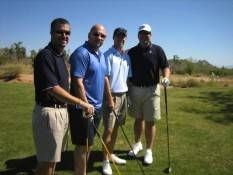 The Foursome of Event Co-Chair Robert Winter (far right)