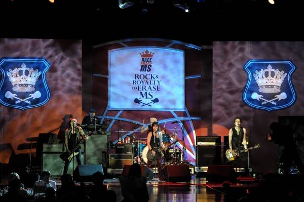 Joan Jett and the Blackhearts onstage at the 18th Annual Race to Erase MS event Co-Chaired by Nancy Davis and Tommy Hilfiger at the Hyatt Regency Century Plaza on April 29, 2011 in Century City, California.