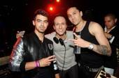Joe Jonas, DJ Vice and Taboo from the Black Eyed Peas at Tao.
