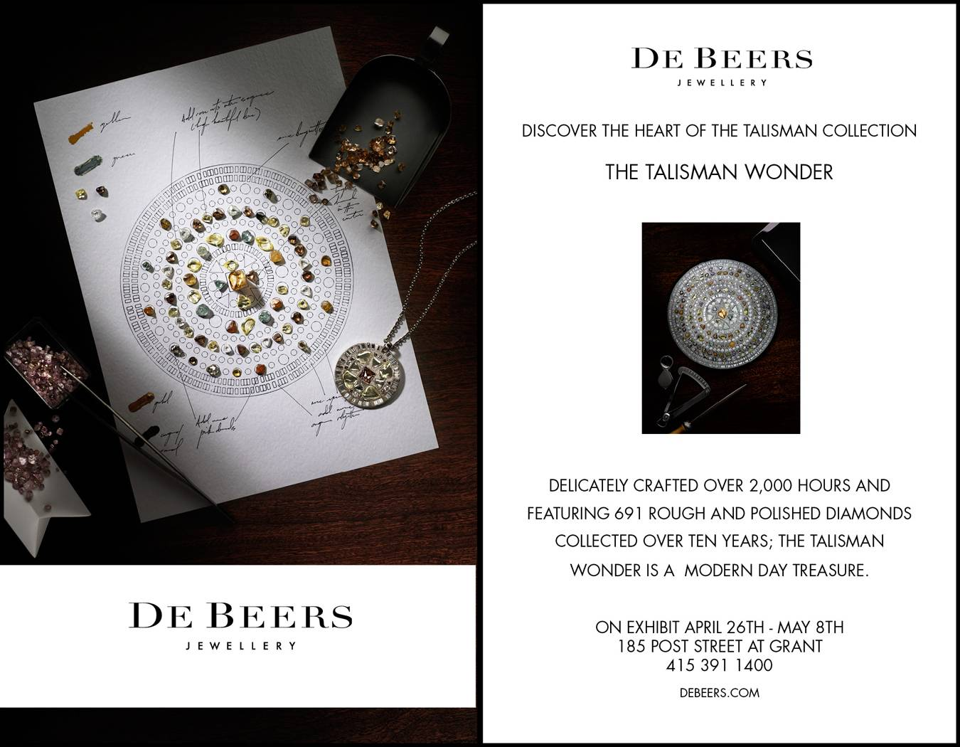 De Beers Hosts Talisman Wonder Exhibit at San Francisco Boutique