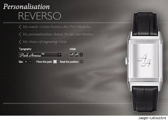 Jaeger-LeCoultre Now Offering Online Customization Services for their Iconic Reverso Watches