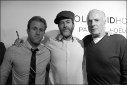 Scott Caan, James Caan with artist Patrick Hoelk