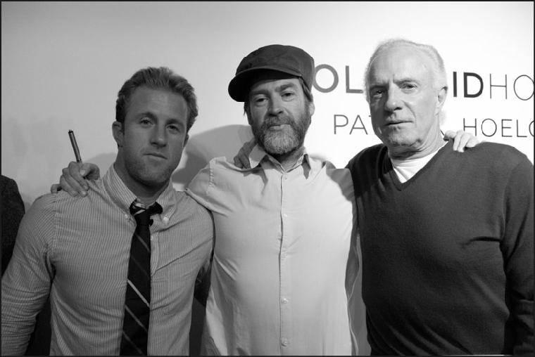 Scott Caan, James Caan with artist Patrick Hoelk