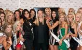 Michael Boychuck with Ximena Navarrete, Rima Fakih and Miss USA 2011 contestants following the OPI Miss Universe reveal.