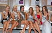 Miss USA 2011 contestants showing off pageant-pretty Miss Universe nail lacquers by OPI at COLOR Salon.