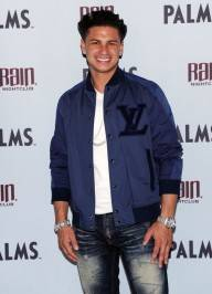 Television personality Paul DelVecchio aka DJ Pauly D arrives at the Rain Nightclub inside the Palms.