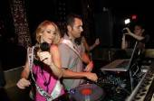 Miss Massachusetts Alida D'Angona with DJ Jason Lema at Tao.