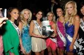 The Miss USA contestants along with Miss USA 2010 Rima Fakih at Tao.