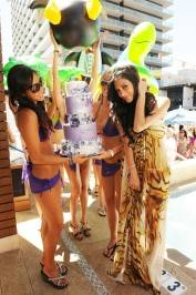 Nicole Scherzinger, right, celebrates her birthday at Marquee Nightclub and Dayclub.