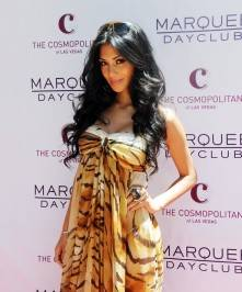 Nicole Scherzinger arrives at Marquee Nightclub and Dayclub to celebrate her birthday.