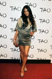 Nicole Scherzinger arrives for her birthday celebration at Tao Nightclub.