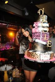 Nicole Scherzinger celebrates her birthday at Tao Nightclub.