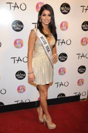 The reigning Miss USA Rima Fakih on the red carpet at Tao.