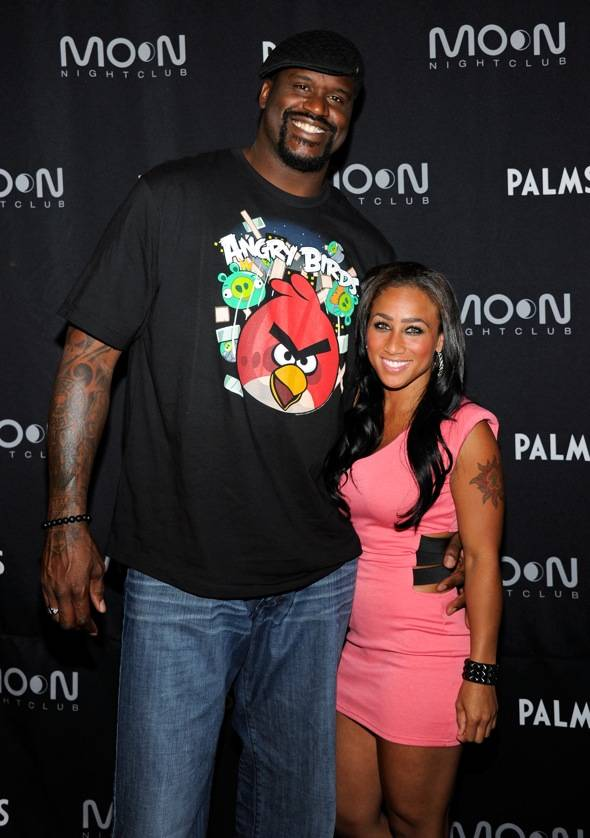 Shaq and his girlfriend where you