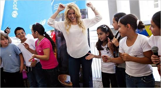 Haute 100 Update: Shakira Promotes Peace through Education at Israeli Presidential Conference