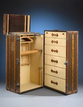 Louis Vuitton's 1920s Wardrobe Trunk For Sale at $29,850