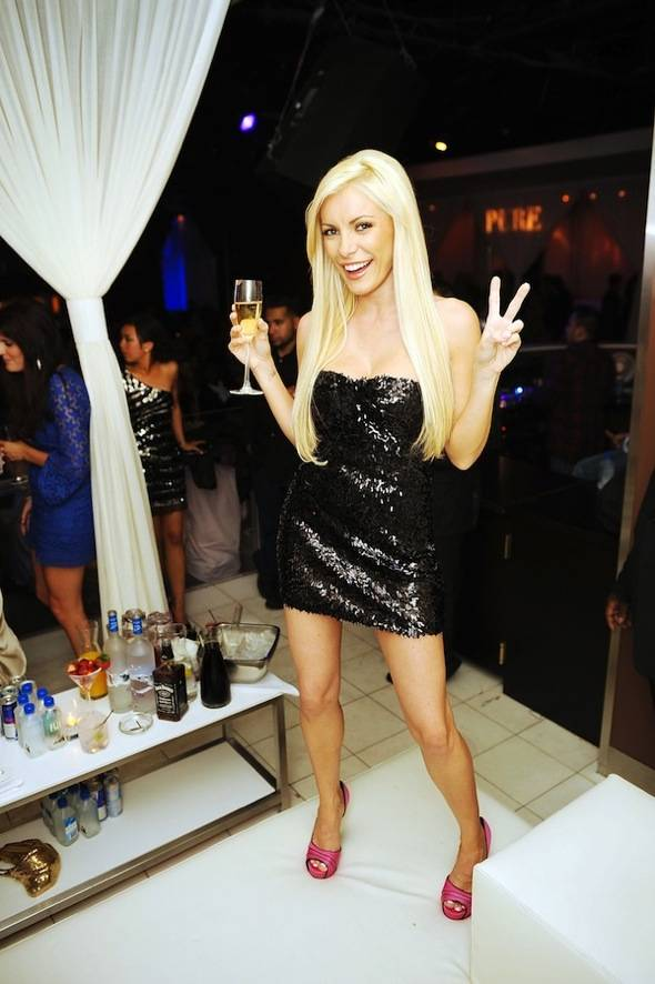 Haute Event: Crystal Harris Returns to Las Vegas to Party at Pure Nightclub