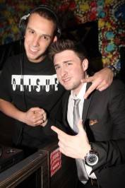 DJ Eric D Lux and Kyle Kaplan at Vanity Nightclub.