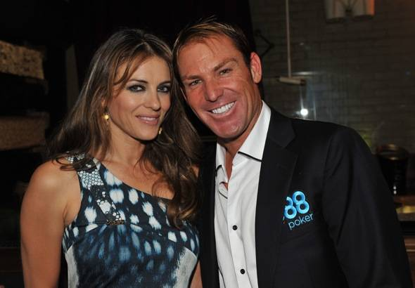 Haute Event: Elizabeth Hurley and Shane Warne Party at Savile Row