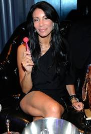 "Danielle Staub inside Chateau Nightclub & Gardens for the pre-premiere party of VH1's ""Famous Food."""