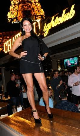 "Danielle Staub on the Chateau Terrace for the pre-premiere party of VH1's ""Famous Food."""